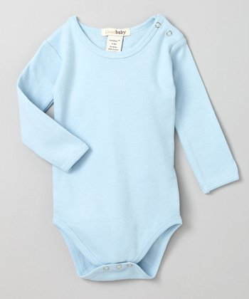 True Blue Long-Sleeve Bodysuit
