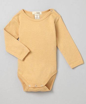 Show-and-Tell Caramel Long-Sleeve Bodysuit