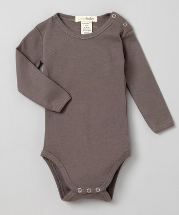 Clay Gray Long-Sleeve Bodysuit - Infant