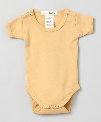 Show-and-Tell Caramel Short-Sleeve Bodysuit - Infant