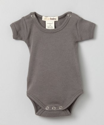 Clay Gray Short-Sleeve Bodysuit - Infant