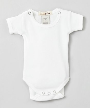 Bright White Short-Sleeve Bodysuit - Infant