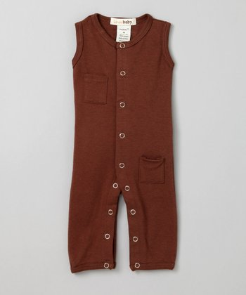 Out-on-the-Town Brown Sleeveless Playsuit - Infant