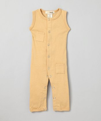 Show-and-Tell Caramel Sleeveless Playsuit - Infant