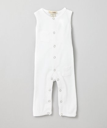 Bright White Sleeveless Playsuit - Infant