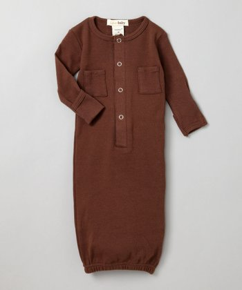 Out-on-the-Town Brown Gown - Infant