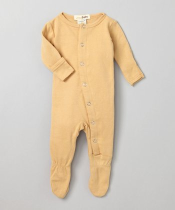 Show-and-Tell Caramel Gl'oved-Sleeve Footie - Infant