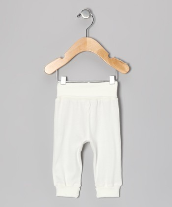 Ivory Rolled-Waist Organic Pants - Infant