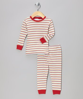Red Stripe Organic Top & Pants