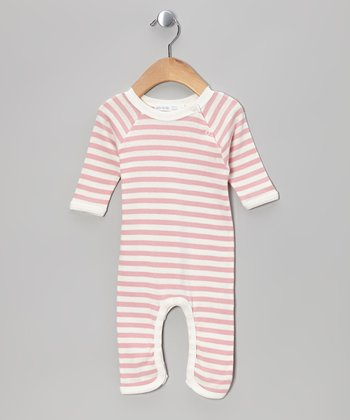 Pink Stripe Organic Playsuit