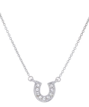 Crystal Horseshoe Pendant Necklace
