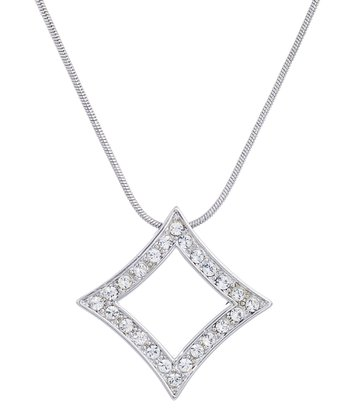 Crystal Diamond Pendant Necklace