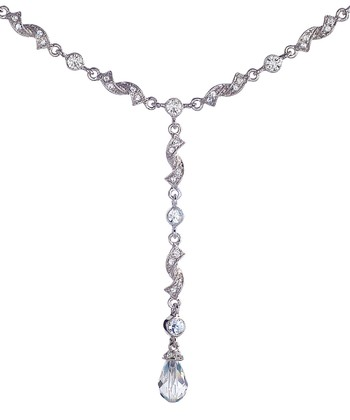 Silver & Crystal Drop Necklace Made With SWAROVSKI ELEMENTS