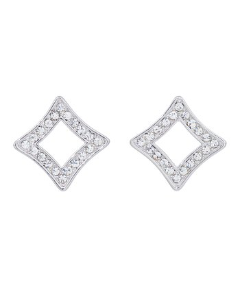 Silver SWAROVSKI ELEMENTS Diamond-Shape Earrings