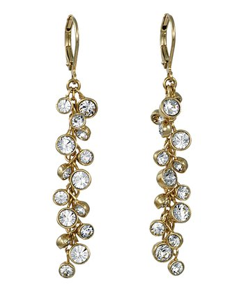 Gold Cluster Earrings Made With SWAROVSKI ELEMENTS