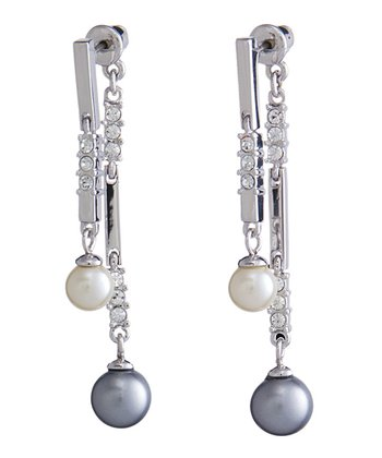 Silver SWAROVSKI ELEMENTS Pearl Drop Earrings