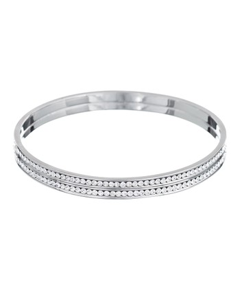 Silver & Crystal Bangle