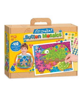 Medium Chameleon & Gorilla Button Mosaics Kit