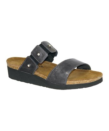 Gray Patent Ashley Sandal - Women