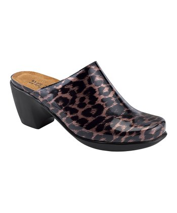 Leopard Patent Dream Mule - Women
