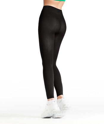 "Black ""Anti-Cellulite"" Compression Leggings - Women & Plus"