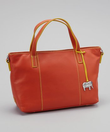 Orange Grab Handle Tote