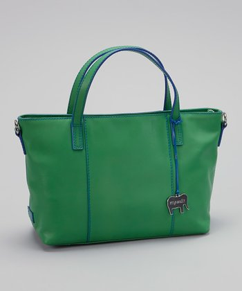 Green Grab Handle Tote