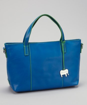 Blue Grab Handle Tote