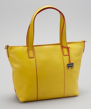 Lemon Grab Handle Crossbody Tote