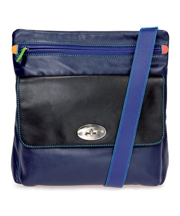 Black & Pace Top-Zip Crossbody Bag