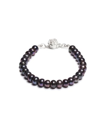 Black Antigua 8-mm Freshwater Pearl Bracelet