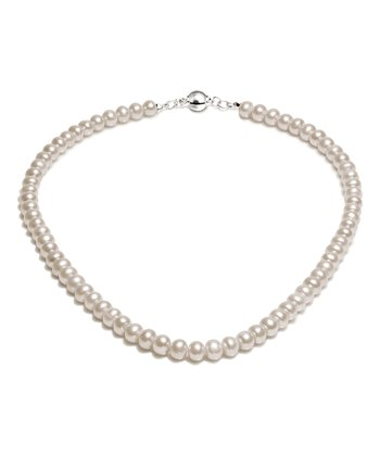 White Bonaire 8-mm Freshwater Pearl Necklace