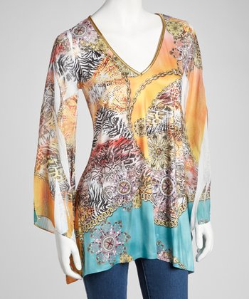 Yellow Sublimation Long-Sleeve Top