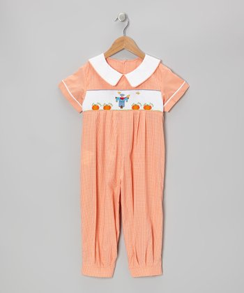 Orange Scarecrow Smocked Playsuit - Infant, Toddler & Boys