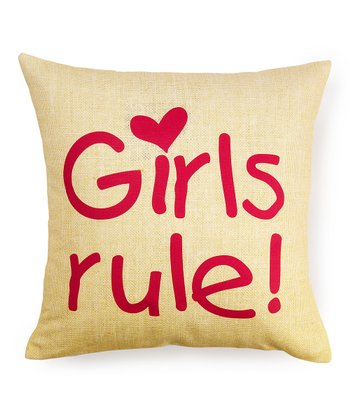 'Girls Rule' Pillow