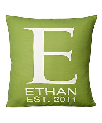 Green Personalized Pillow
