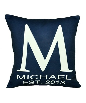 Navy Blue Personalized Pillow