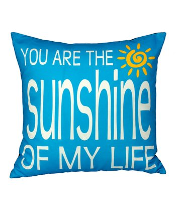 Blue 'Sunshine' Pillow