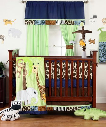 Jazzie Jungle Four-Piece Crib Bedding Set