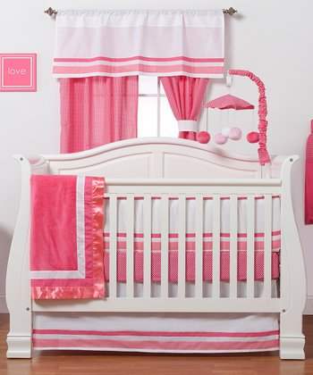 Pink Simplicity Four-Piece Crib Bedding Set