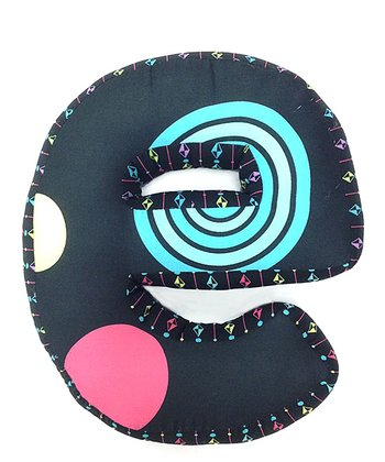 Pink & Blue 'E' Magical Michayla Letter Pillow