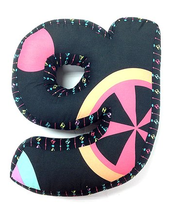 Pink & Blue 'G' Magical Michayla Letter Pillow