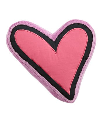 Pink & Purple Sassy Shaylee Heart Throw Pillow