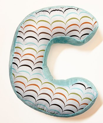'C' Puppy Pal Letter Pillow