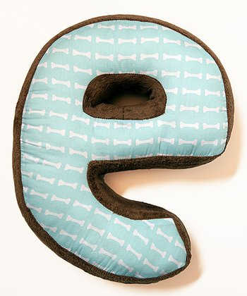 'E' Puppy Pal Letter Pillow