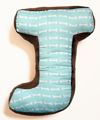 'J' Puppy Pal Letter Pillow