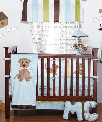Puppy Pal Four-Piece Crib Bedding Set
