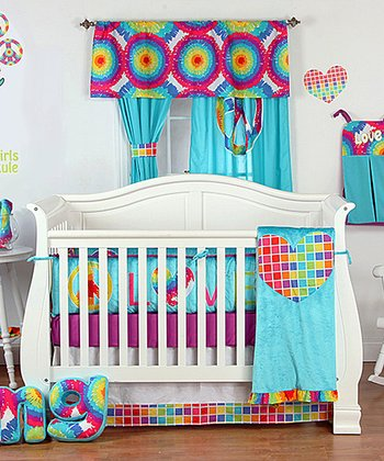 Terrific Tie-Dye Four-Piece Crib Bedding Set