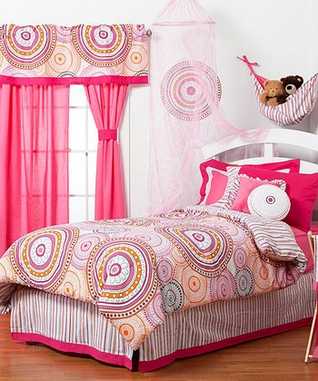 Orange & Pink Sophia Lolita Comforter Set
