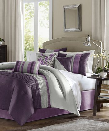 Purple Houston Comforter Set